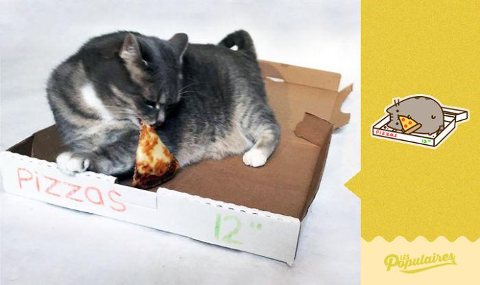 "pusheeen5 - 12 Pose Kucing Ala Stiker Facebook ""Pusheen"" yang Menggemaskan"