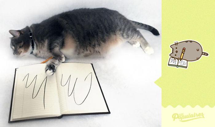 "pusheen6 - 12 Pose Kucing Ala Stiker Facebook ""Pusheen"" yang Menggemaskan"