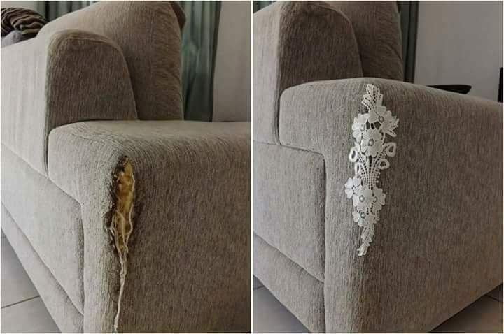 bekas cakaran - Kreatif ! Selamatkan Bekas cakaran Di Sofa Anda dengan Cara Berikut